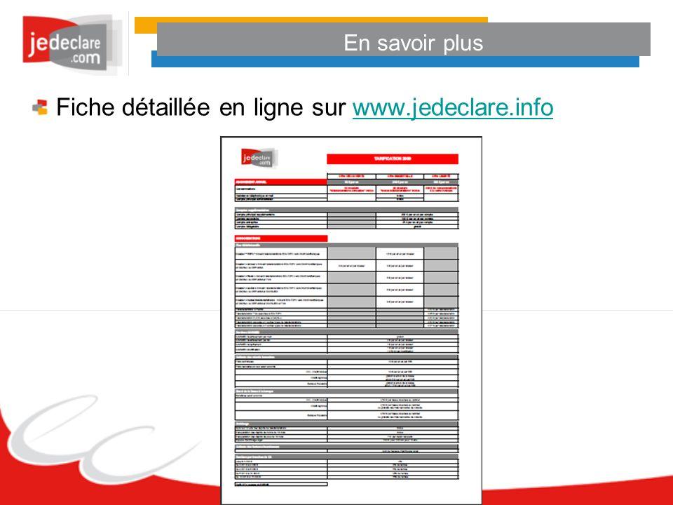En savoir plus Fiche détaillée en ligne sur www.jedeclare.infowww.jedeclare.info