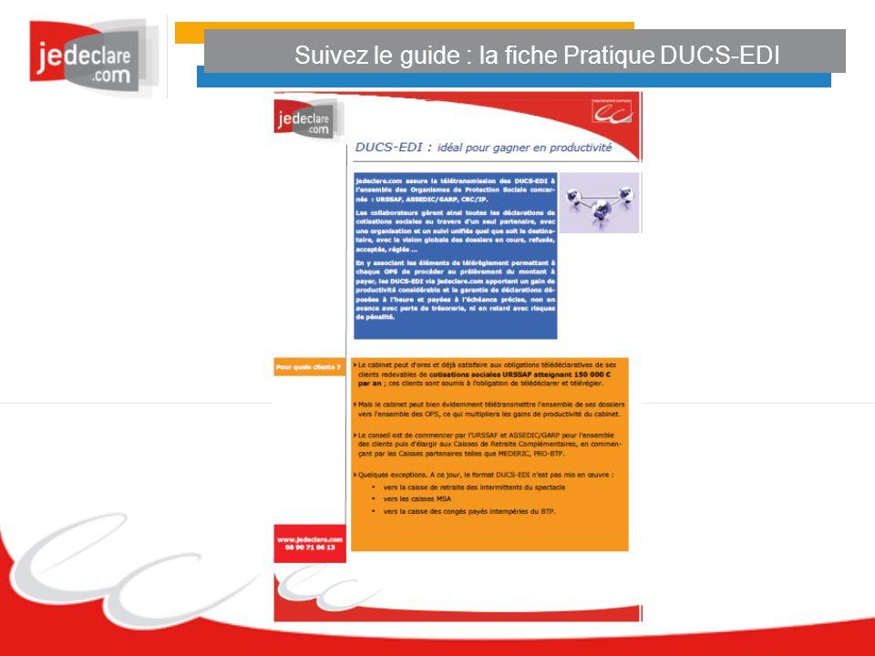 Suivez le guide : la fiche Pratique DUCS-EDI