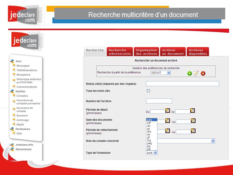 Recherche multicritère dun document