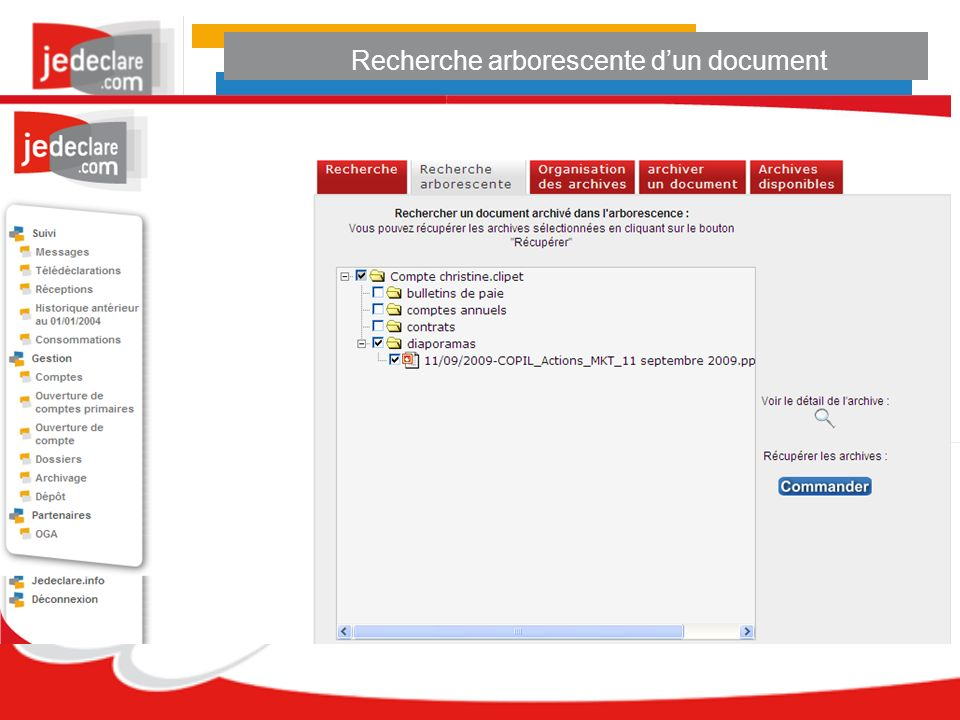 Recherche arborescente dun document