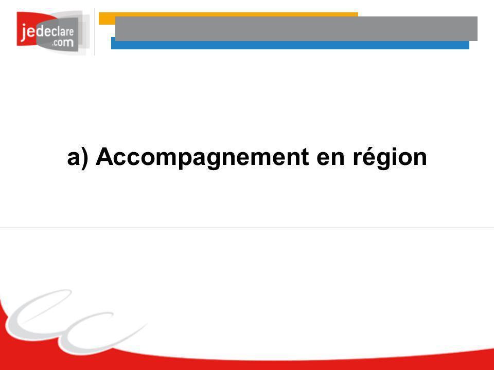 a) Accompagnement en région