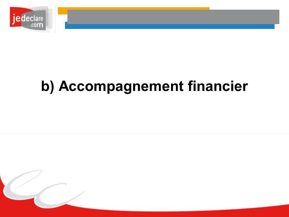b) Accompagnement financier