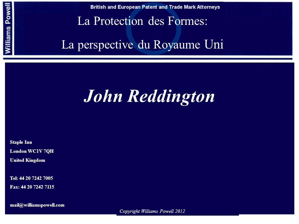1.Le cadre législatif 2.Jugements des tribunaux britanniques 3.Exemples 4.Conclusions Introduction: les conditions de protection de la forme en tant que marque
