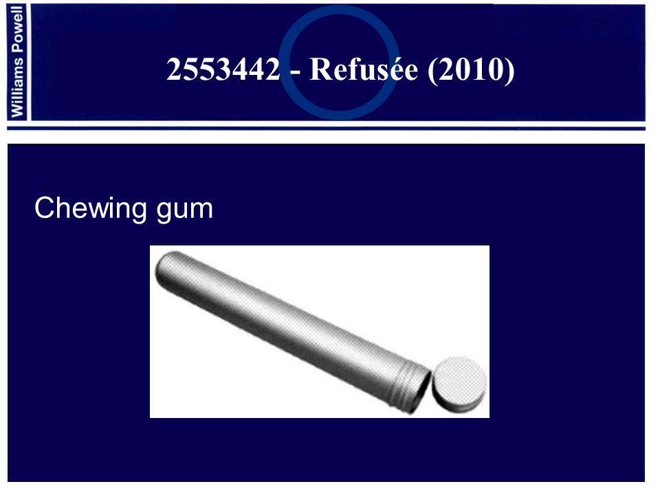 Chewing gum 2553442 - Refusée (2010)