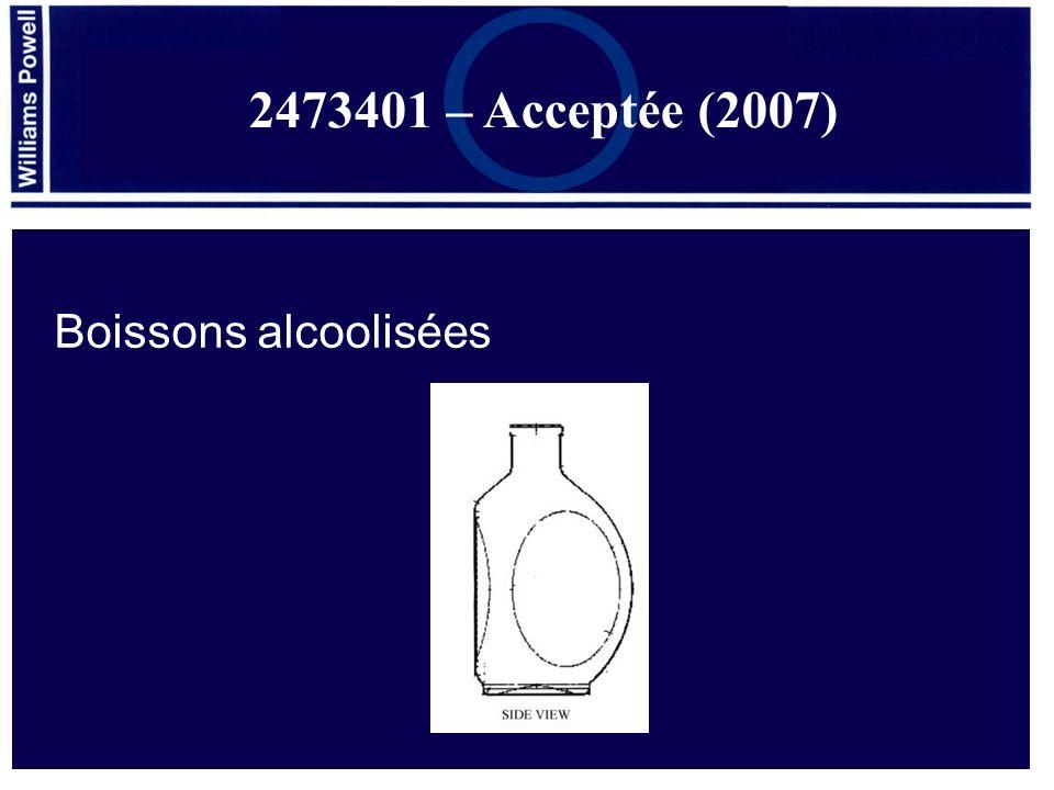 Boissons alcoolisées 2473401 – Acceptée (2007)