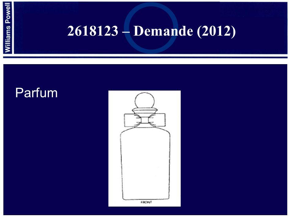 Parfum 2618123 – Demande (2012)