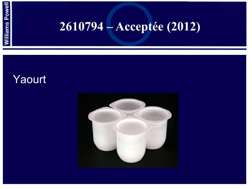 Yaourt 2610794 – Acceptée (2012)