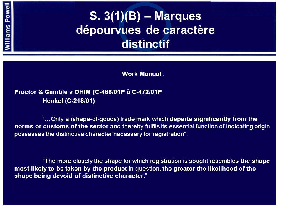 Désodorisant domestique, classes 3, 5, 11 & 21 2561236 – Acceptée (2007)