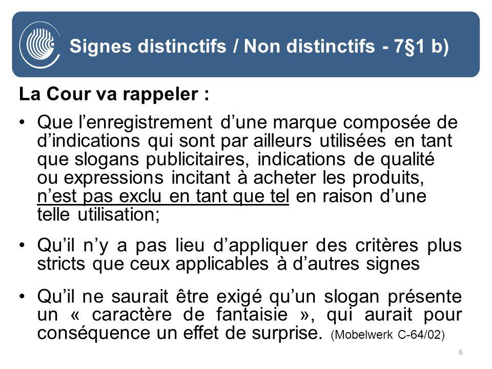 37 Signe descriptif - 7§1 c) TPICE 8 septembre 2010, Micro Shaping Ltd c/ OHMI - T-64/09 classes 16, 17 et 42
