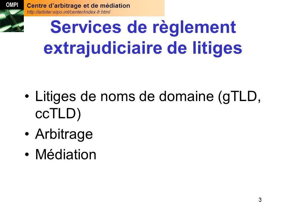 Centre darbitrage et de médiation http://arbiter.wipo.int/center/index-fr.html 34 Atteinte aux droits des tiers Latteinte aux droits des tiers couvre un champ dépassant la seule atteinte au droit des marques.