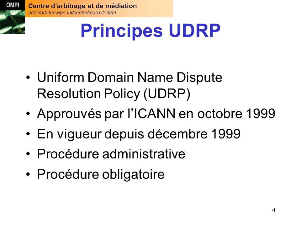 Centre darbitrage et de médiation http://arbiter.wipo.int/center/index-fr.html 35