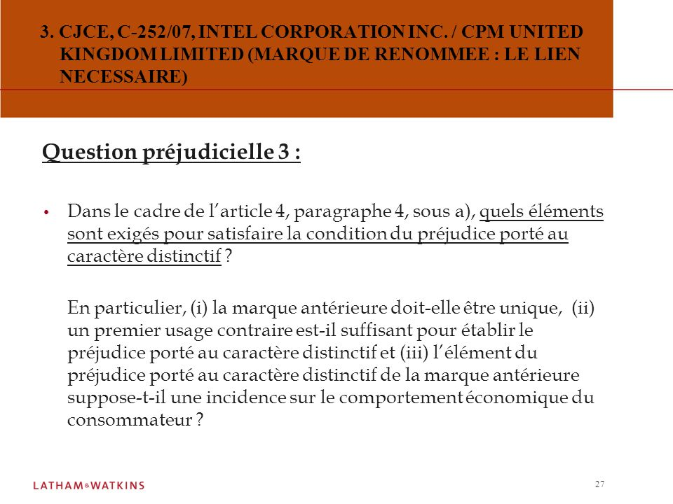 26 Question préjudicielle 2 : Dans la négative, quels éléments la juridiction nationale doit-elle prendre en compte pour décider si ce lien est suffis