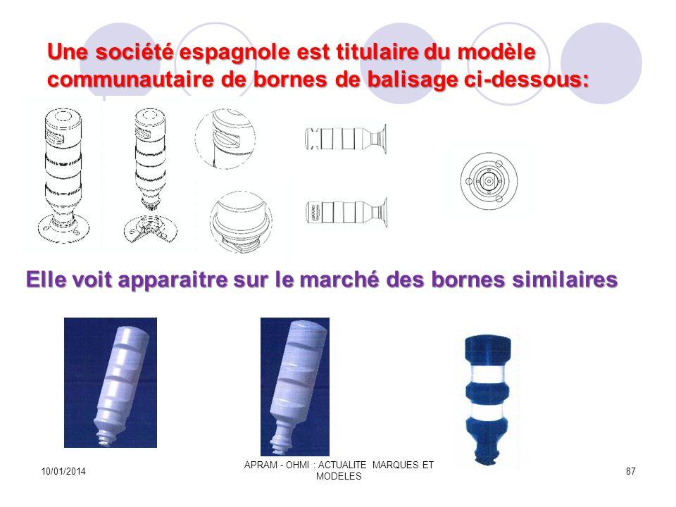 Elle voit apparaitre sur le marché des bornes similaires Elle voit apparaitre sur le marché des bornes similaires 10/01/2014 APRAM - OHMI : ACTUALITE