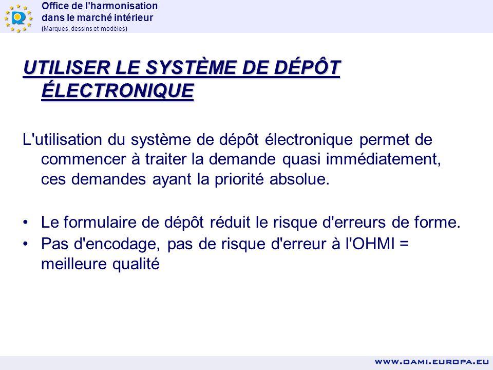 Office de lharmonisation dans le marché intérieur (Marques, dessins et modèles) OPTIONS POUR ACCÉLÉRER L'ENREGISTREMENT