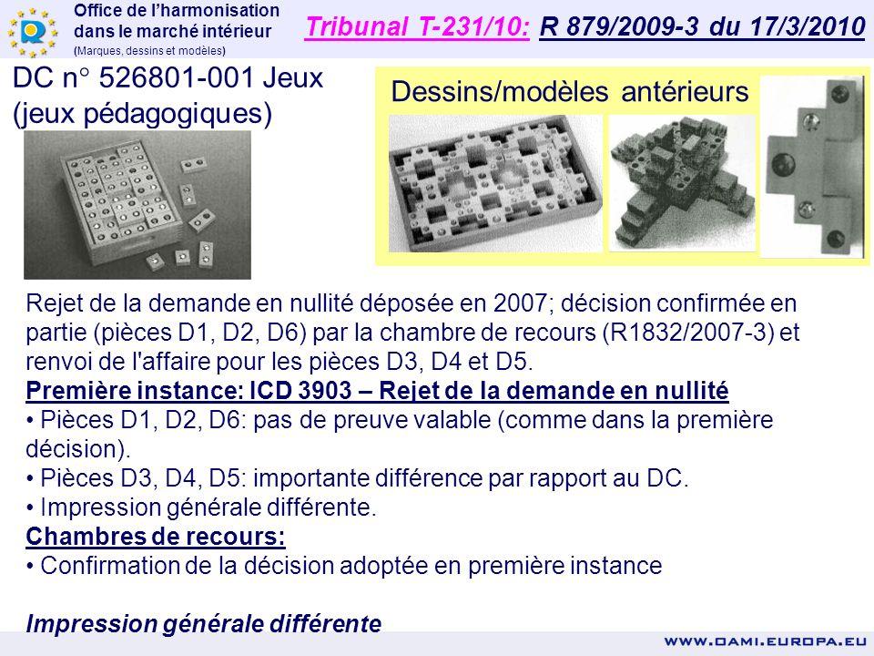 Office de lharmonisation dans le marché intérieur (Marques, dessins et modèles) DC n° 625702-0001 Réducteur Première instance: ICD 3960 – Rejet de la