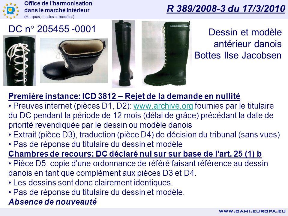 Office de lharmonisation dans le marché intérieur (Marques, dessins et modèles) DC n° 119623-0001 - Jantes Première instance: ICD 3853 - DC déclaré nu