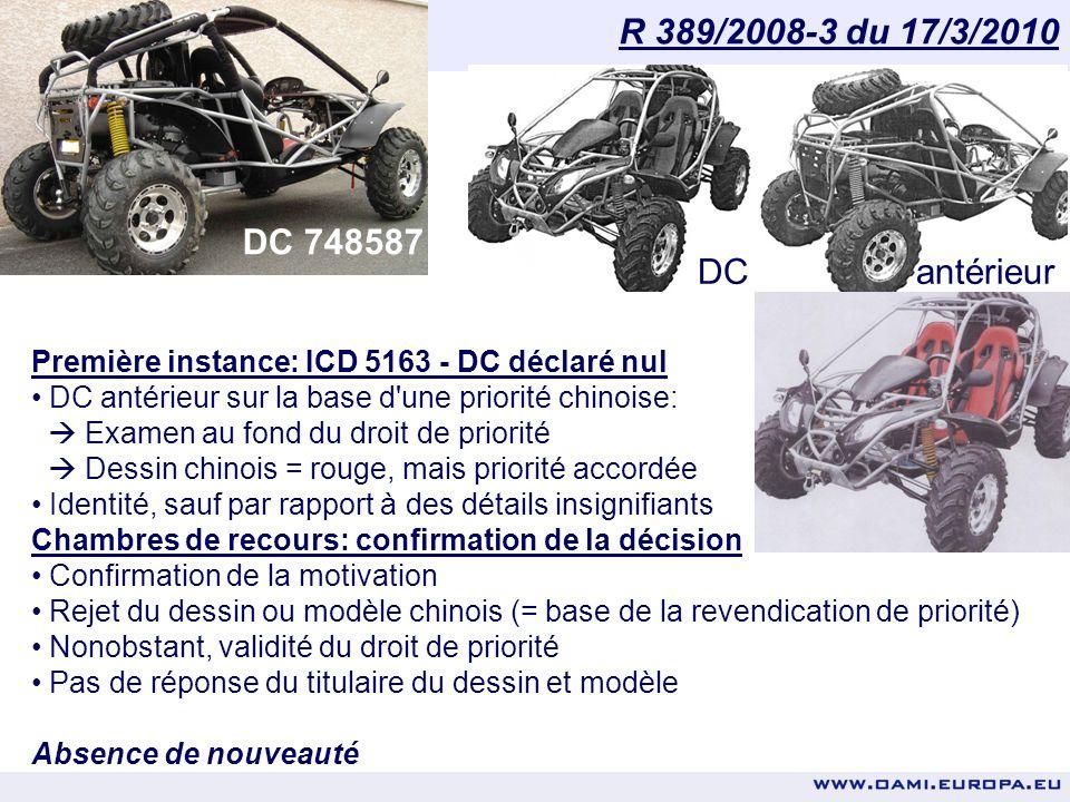 Office de lharmonisation dans le marché intérieur (Marques, dessins et modèles) Première instance: ICD 5346 – Rejet de la demande en nullité Caractéri