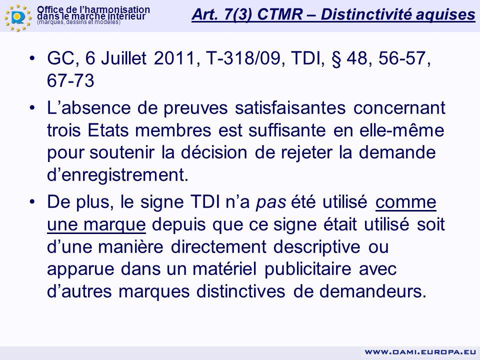 Office de lharmonisation dans le marché intérieur (Marques, dessins et modèles) WWW.OAMI.EUROPA.EU Motifs relatifs de refus