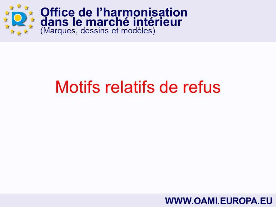 Office de lharmonisation dans le marché intérieur (marques, dessins et modèles) Art.