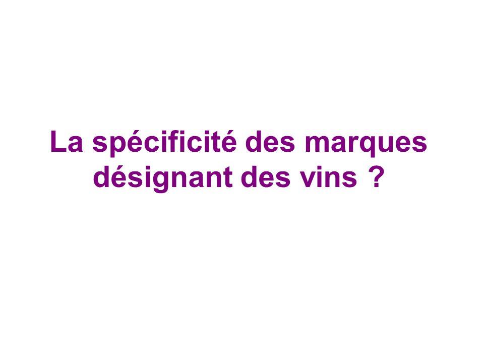 La spécificité des marques désignant des vins ?