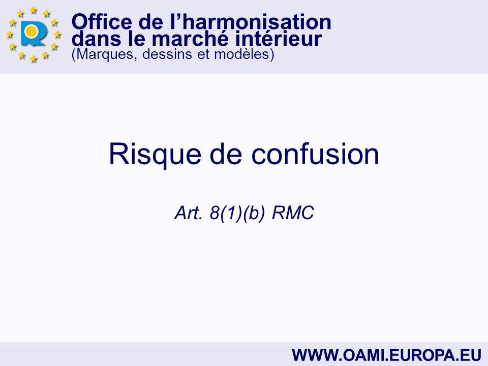 Office de lharmonisation dans le marché intérieur (Marques, dessins et modèles) WWW.OAMI.EUROPA.EU Risque de confusion Art.