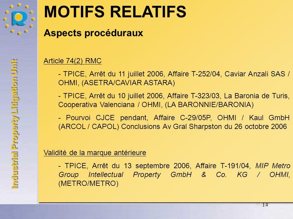 Industrial Property Litigation Unit 15 Article 8(1)(b) RMC Circonstances concrètes dusage des marques - TPICE, Arrêt du 12 janvier 2006, Affaire T-147/03, Devinlec Développement innovation Leclerc SA / OHMI, (Q QUANTUM/QUANTIEME) – pourvoi CJCE Moment où est apprécié le degré dattention - CJCE, Arrêt du 12 janvier 2006, Affaire C-361/04P, Claude Ruiz- Picasso et autres / OHMI, (PICARO/PICASSO) - CJCE, Arrêt du 22 juin 2006, Affaire C-24/05P, August Storck KG / OHMI, (KARAMELBONBON) Article 8(1)(b) RMC Circonstances concrètes dusage des marques - TPICE, Arrêt du 12 janvier 2006, Affaire T-147/03, Devinlec Développement innovation Leclerc SA / OHMI, (Q QUANTUM/QUANTIEME) – pourvoi CJCE Moment où est apprécié le degré dattention - CJCE, Arrêt du 12 janvier 2006, Affaire C-361/04P, Claude Ruiz- Picasso et autres / OHMI, (PICARO/PICASSO) - CJCE, Arrêt du 22 juin 2006, Affaire C-24/05P, August Storck KG / OHMI, (KARAMELBONBON)