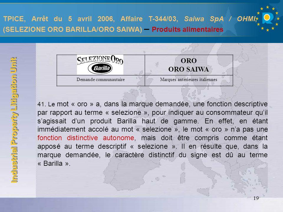 Industrial Property Litigation Unit 20 TPICE, Arrêt du 23 février 2006, Affaire T-194/03, Il Ponte Finanziaria S.p.A.