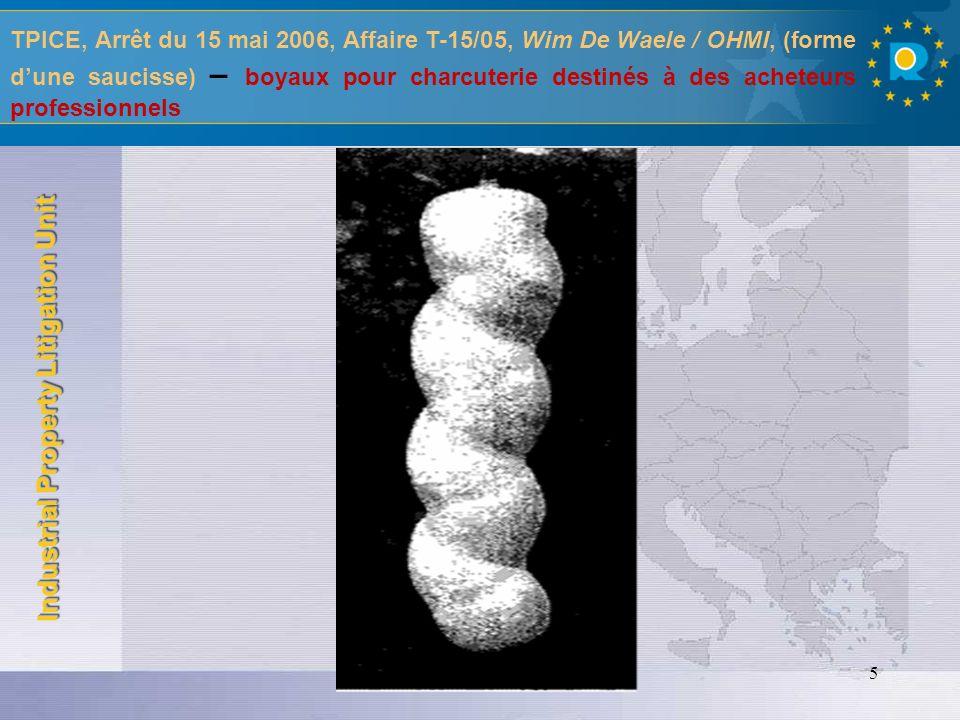 Industrial Property Litigation Unit 6 TPICE, Arrêt du 15 mars 2006, Affaire T-129/04, Develey Holding GmbH & Co.