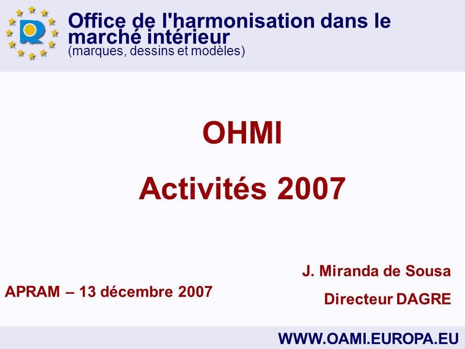 Office de l harmonisation dans le marché intérieur (marques, dessins et modèles) WWW.OAMI.EUROPA.EU J.