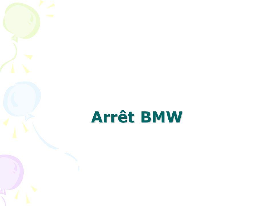 Arrêt BMW