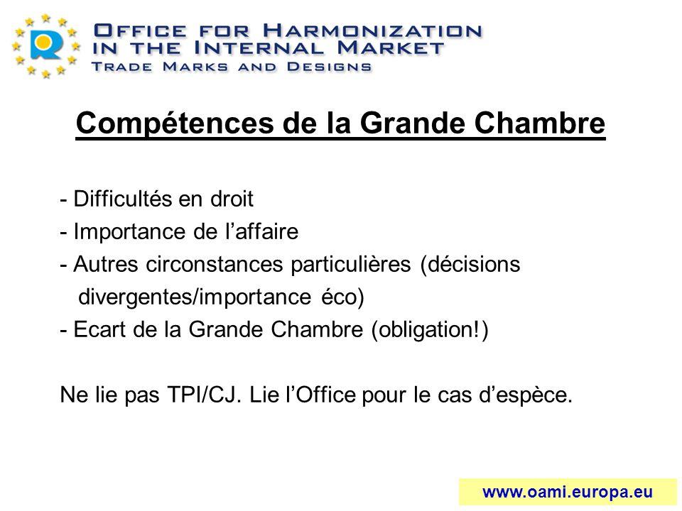 Compétences de la Grande Chambre - Difficultés en droit - Importance de laffaire - Autres circonstances particulières (décisions divergentes/importanc