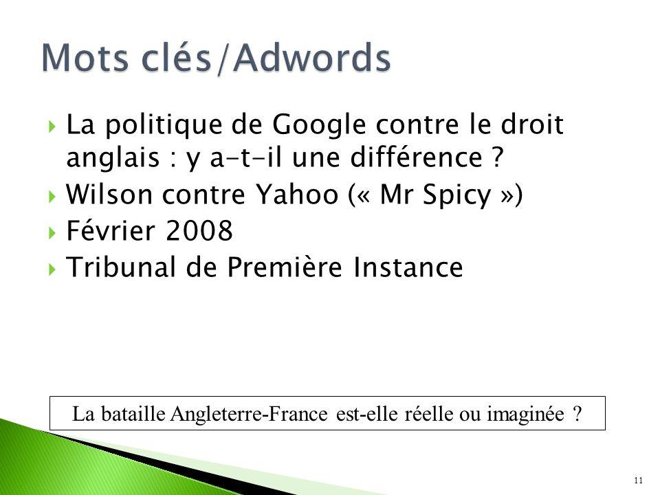 La politique de Google contre le droit anglais : y a-t-il une différence .