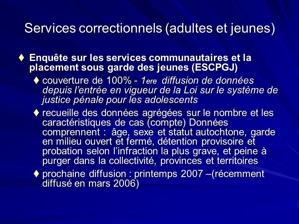 Enquête sur les services communautaires et la placement sous garde des jeunes (ESCPGJ) Enquête sur les services communautaires et la placement sous ga