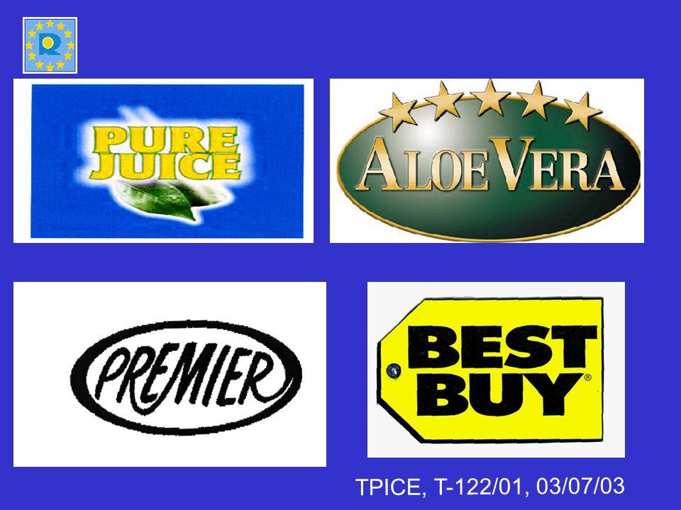 Motifs relatifs Autres droits [article 8(4) RMC] TPICE 12/06/2007 T-5/04 Budějovický Budvar v OHIM (Budweiser) - la notoriété des appellations dorigine est fonction de limage dont celles-ci jouissent auprès des consommateurs.