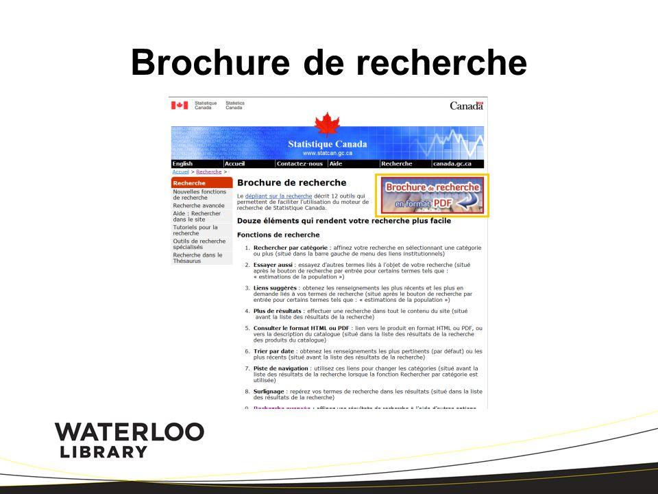 Brochure de recherche