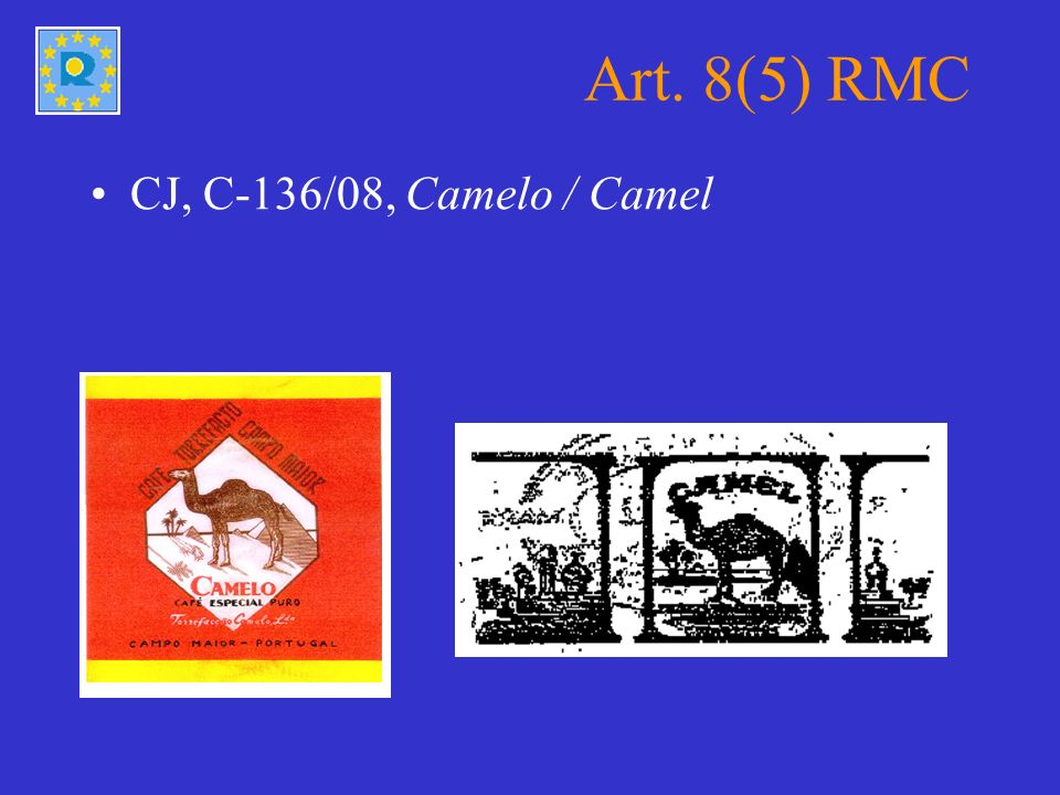 Art. 8(5) RMC CJ, C-136/08, Camelo / Camel