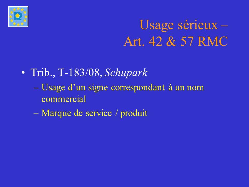 Usage sous une forme modifiée – Art. 15(1)(a) RMC Trib., T-183/08, Coloris