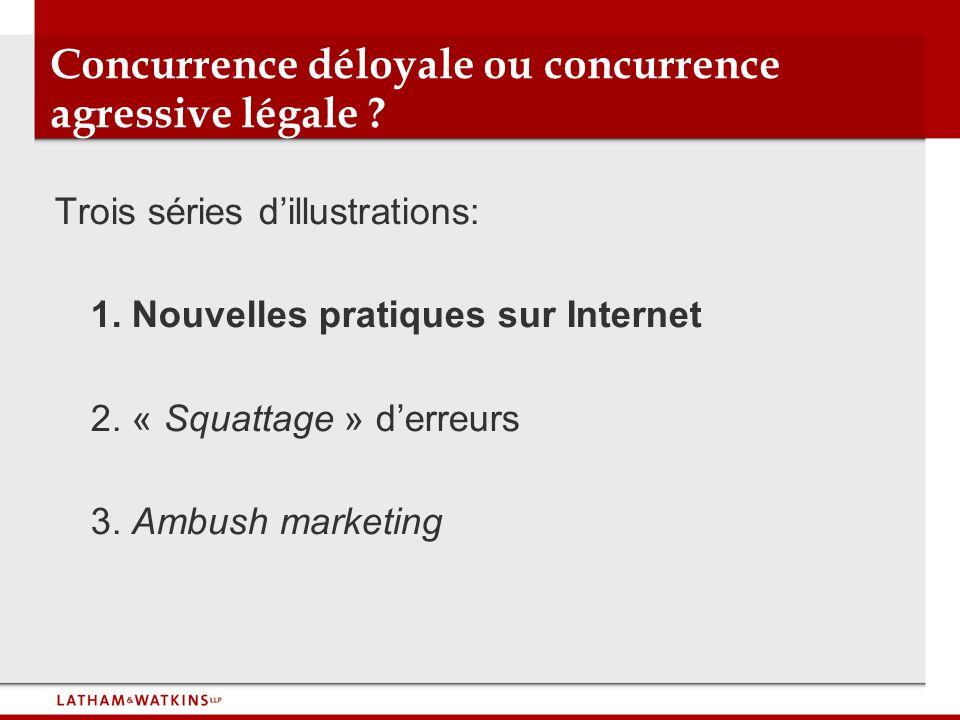 1.Nouvelles pratiques sur Internet A. Dénigrement ex: renvoi à un site dénigrant B.