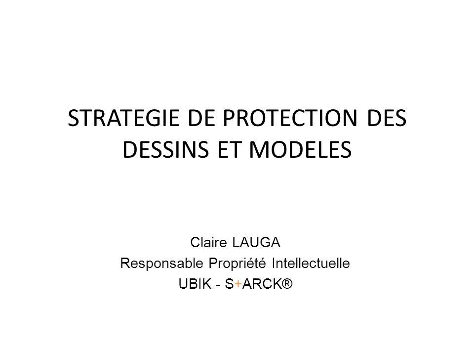 STRATEGIE DE PROTECTION DES DESSINS ET MODELES Claire LAUGA Responsable Propriété Intellectuelle UBIK - S+ARCK®