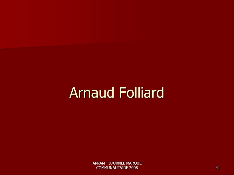 APRAM - JOURNEE MARQUE COMMUNAUTAIRE 200841 Arnaud Folliard