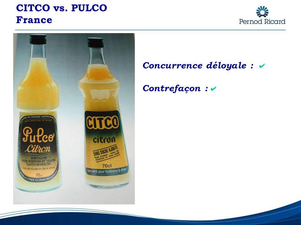 CITCO vs. PULCO France Concurrence déloyale : Contrefaçon :
