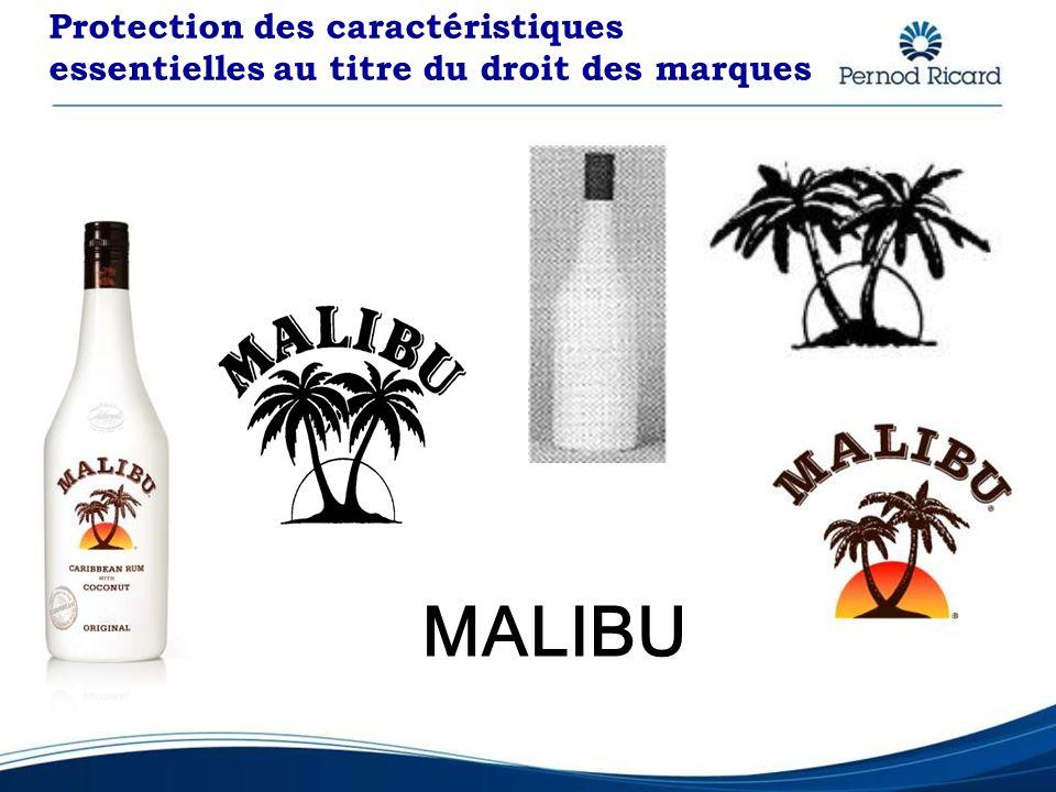 Protection des caractéristiques essentielles au titre du droit des marques MALIBU