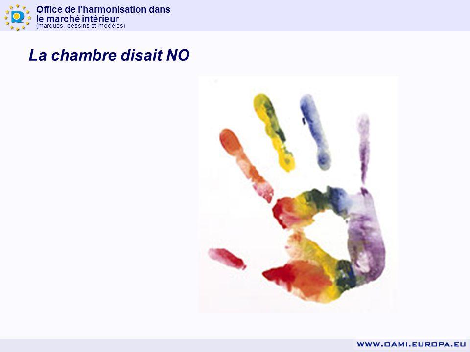 Office de l'harmonisation dans le marché intérieur (marques, dessins et modèles) La chambre disait NO