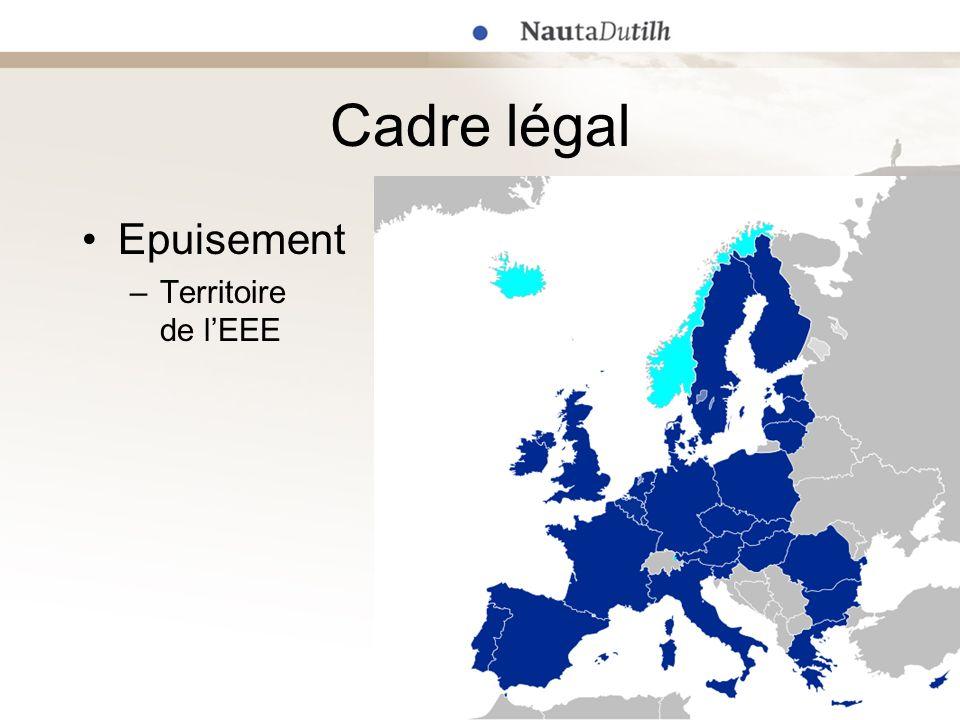 Cadre légal Epuisement –Territoire de lEEE