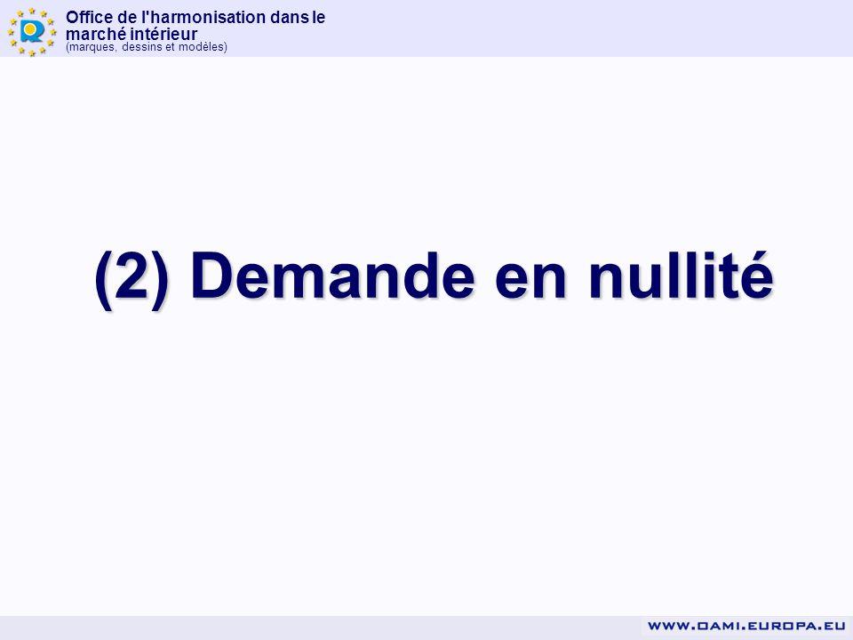 Office de l'harmonisation dans le marché intérieur (marques, dessins et modèles) (2) Demande en nullité