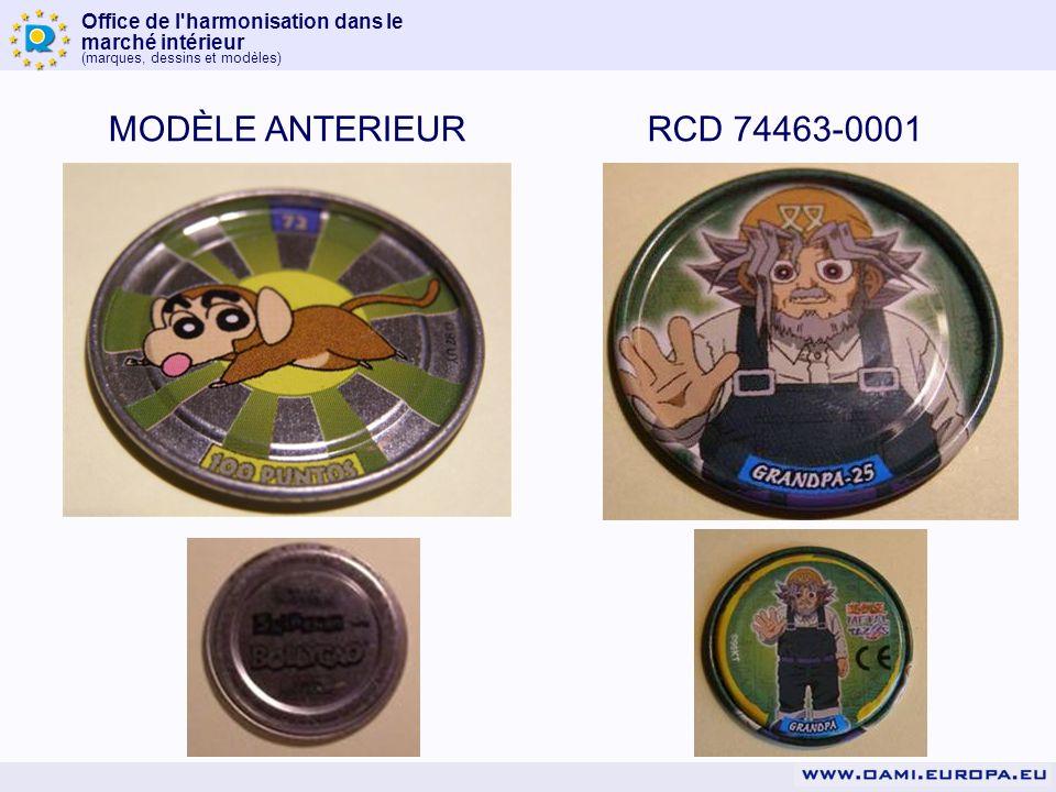 Office de l'harmonisation dans le marché intérieur (marques, dessins et modèles) MODÈLE ANTERIEURRCD 74463-0001