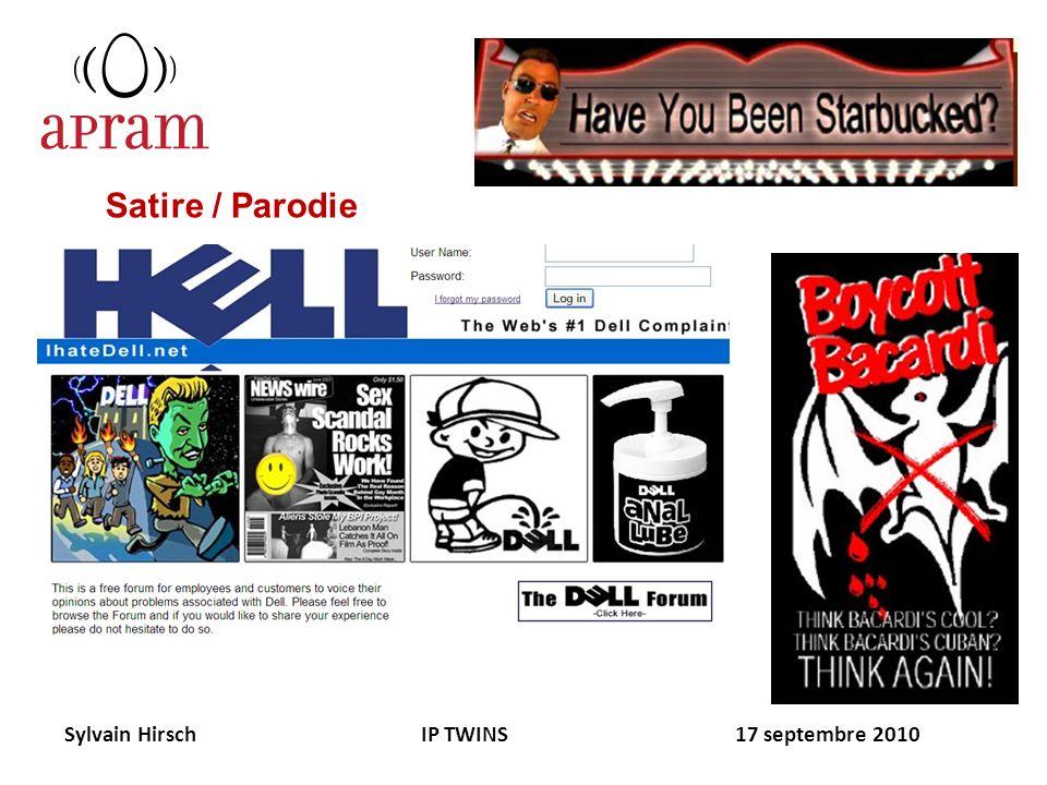Sylvain Hirsch IP TWINS 17 septembre 2010 Satire / Parodie