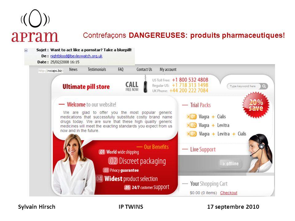 Contrefaçons DANGEREUSES: produits pharmaceutiques!