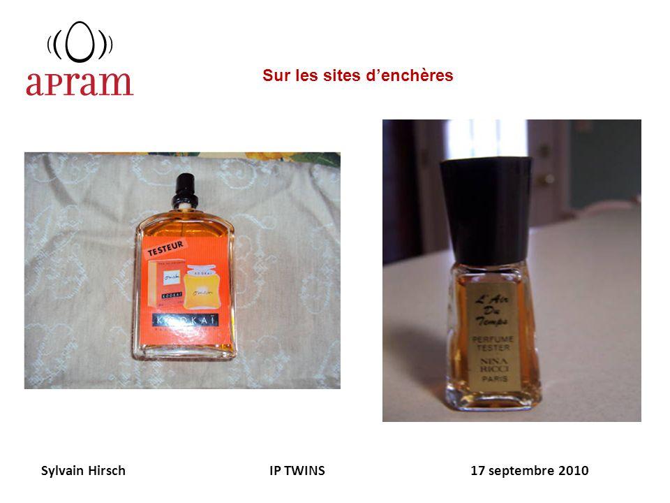 Sylvain Hirsch IP TWINS 17 septembre 2010 Sur les sites denchères