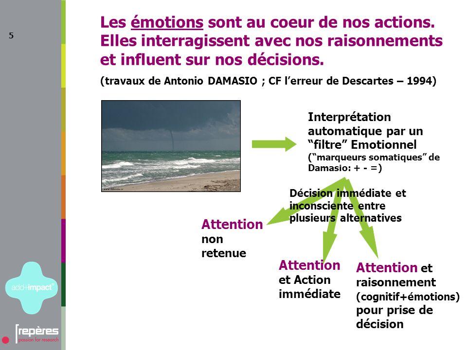 5 Les émotions sont au coeur de nos actions.